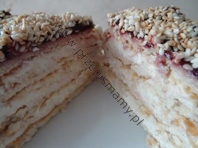 """Ciasto bez pieczenia """"Chałwowiec"""""""