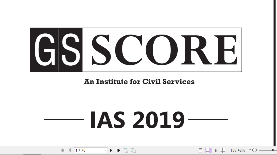 GS Score IAS prelims 2019 Test Series with Solution