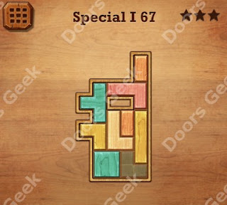 Cheats, Solutions, Walkthrough for Wood Block Puzzle Special I Level 67