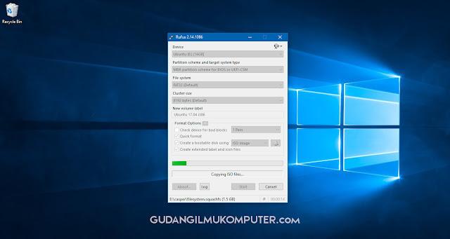 Cara Membuat Bootable USB Ubuntu Menggunakan Rufus