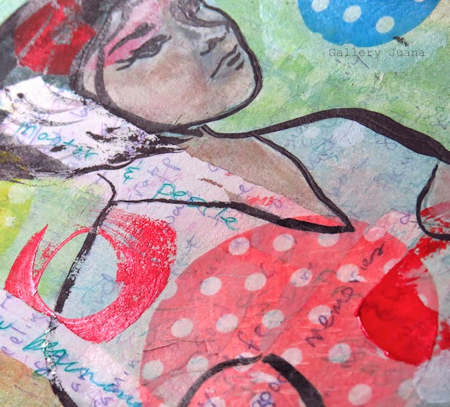 art journal page, the big cry, gallery juana