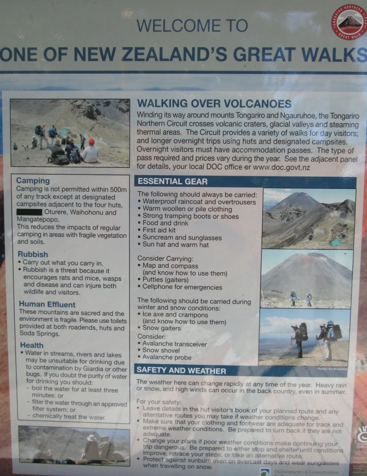 Report from Catherine and Peter: Aotearoa New Zealand Part 1