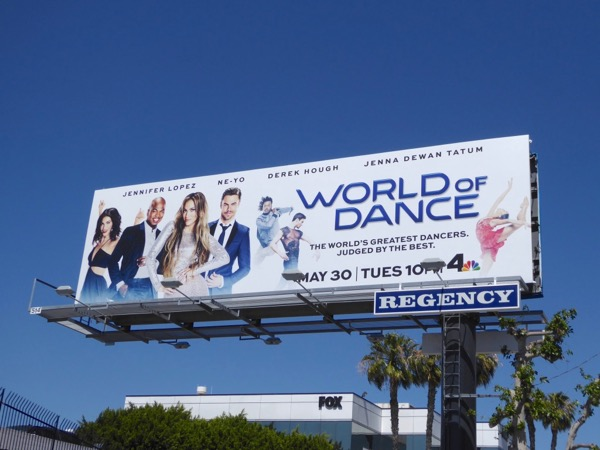 World of Dance series launch billboard