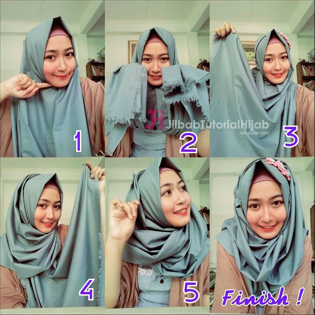 Cara Memakai Jilbab Sederhana Sehari Hari Jilbab Tutorial Hijab