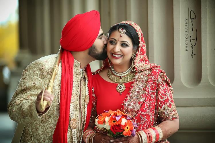 Beautiful Punjabi Wedding Bride And Groom Photography 2017