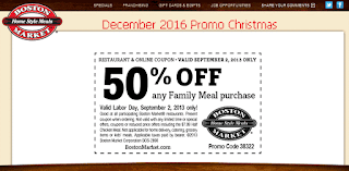 Boston Market coupons for december 2016