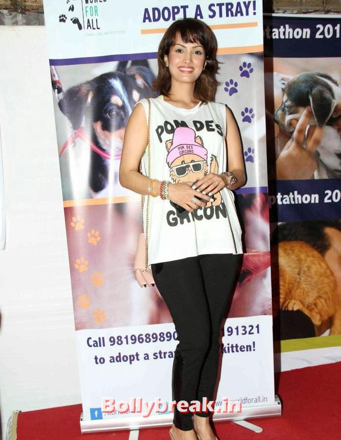 Nisha Rawal, Sonali Bendre, Kalki Koechlin at Pet Adoption 2013
