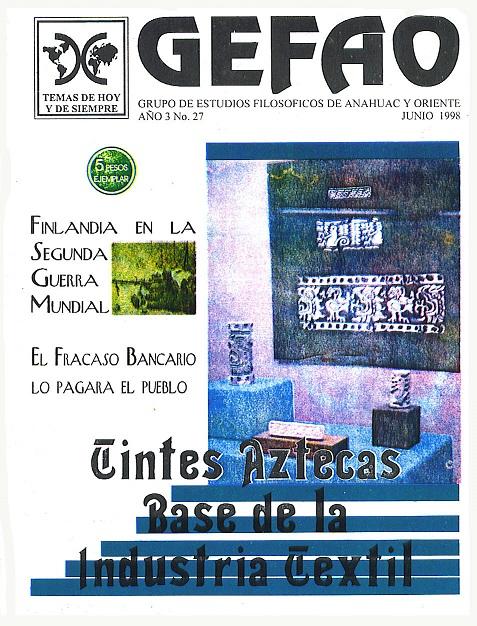 Tintes Aztecas Base de la industria Textil Revista GEFAO