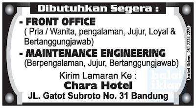 Loker Chara Hotel Bandung