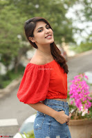 Rhea Chakraborty in Red Crop Top and Denim Shorts Spicy Pics ~  Exclusive 122.JPG
