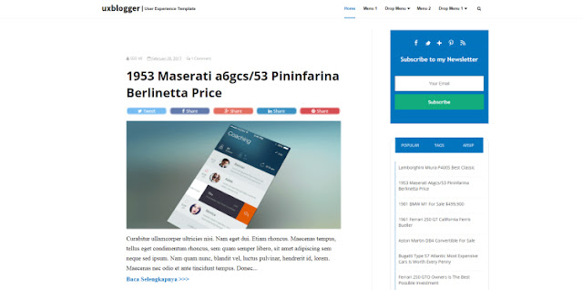 Ux blogger template