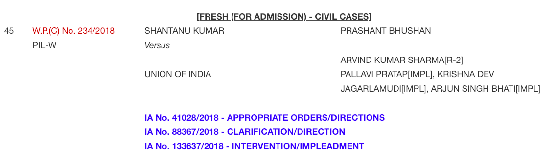 SSC CGL 2017 Supreme Court Case Office Report for hearing on 29 01