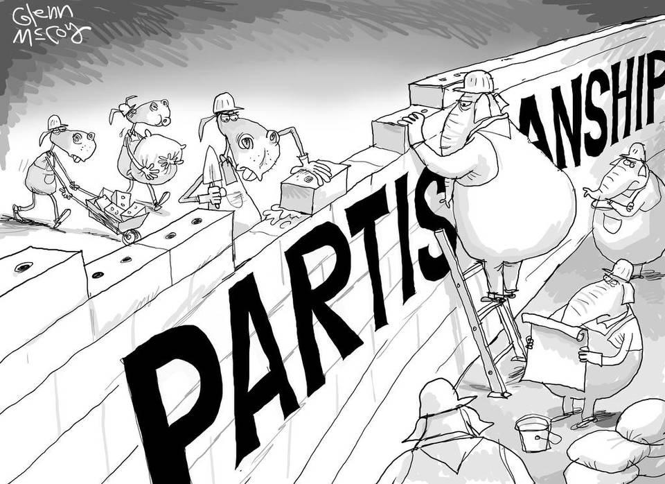 Blank Versus Blank Partisanship