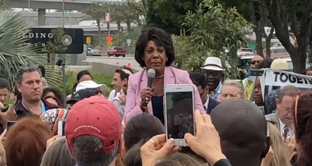 Maxine Waters orders MORE public harassment of Trump aides: 'God is on OUR side!'