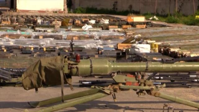 Ejército sirio decomisa armas israelíes y estadounidenses
