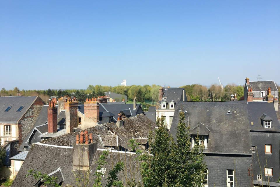 Sur les toits de Honfleur