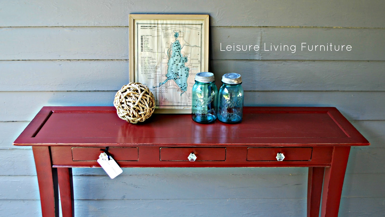Tremendous Leisure Living Primer Red Sofa Table Home Interior And Landscaping Dextoversignezvosmurscom