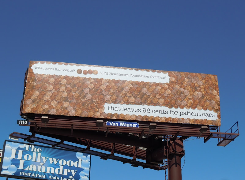 AIDS Healthcare 4 cents billboard