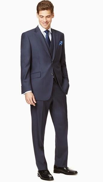 Marks Amp Spencer Men S 3 Piece Suits Slim Fit Three Piece