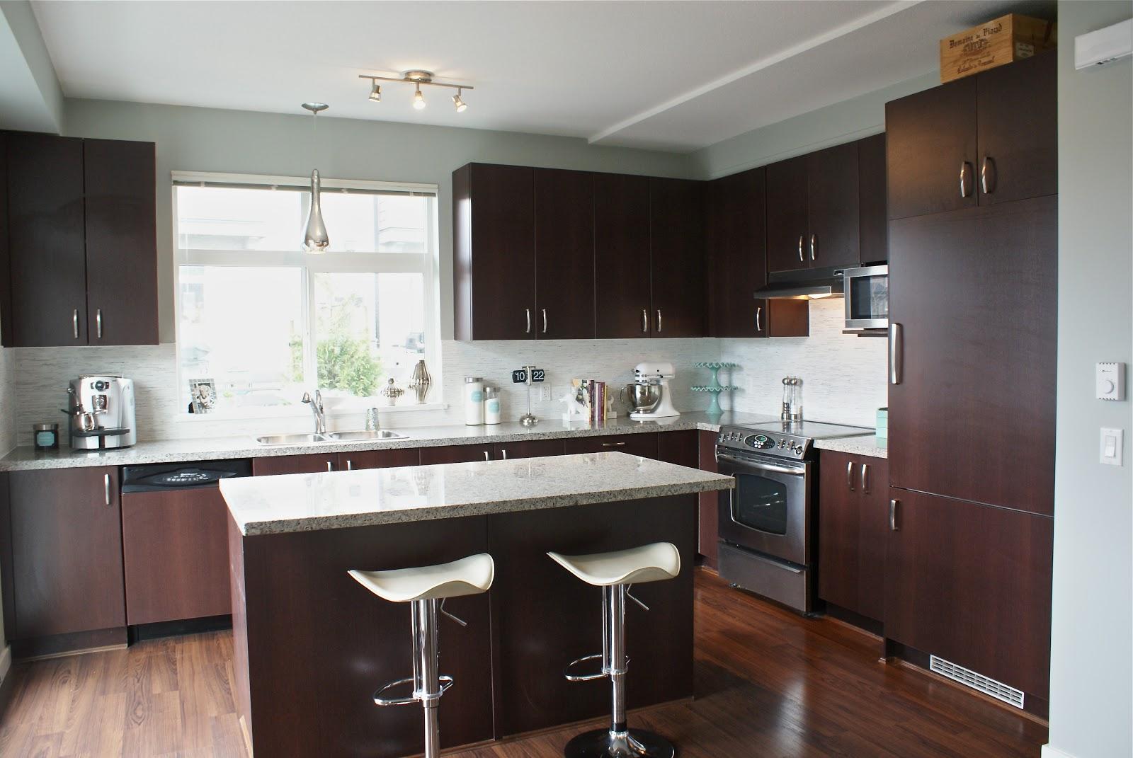 espresso and white kitchen cabinets themed decor our carrara marble backsplash tour