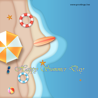 hot summer greetings beach sea  Happy Summer Day Images