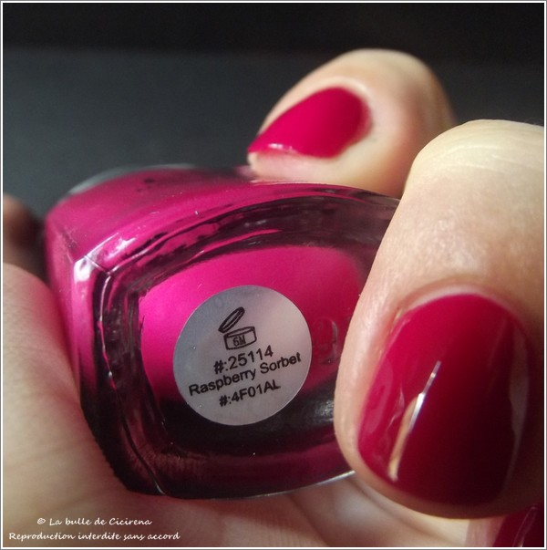 Raspberry Sorbet (#25114), nail polish, vernis, ELF, swatch