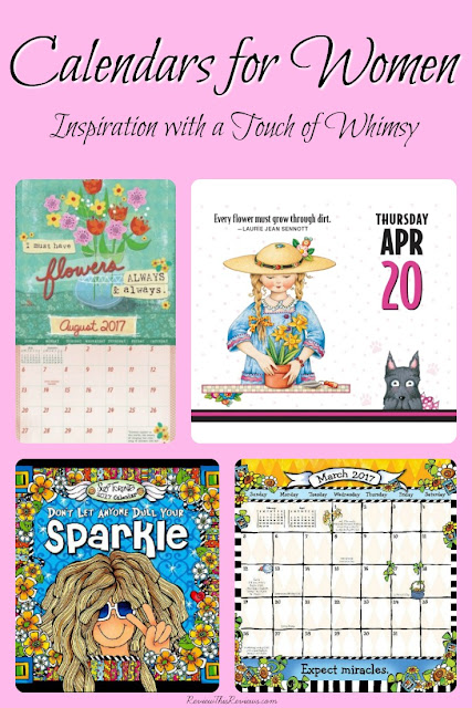It's time to start looking at calendars for 2017. Here are my top three favorite inspirational calendars for women, each with a touch of whimsy.