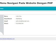 Membuat Menu Navigasi Pada Website Dengan PHP