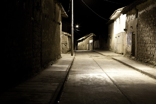 Accha, Peru at night photo by Marlon Krieger