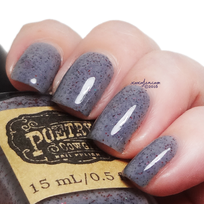 xoxoJen's swatch of Poetry Cowgirl Scarlet Dusk