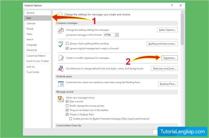 how to add signature on outlook mail