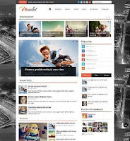 Manshet - SEO Responsive Magazine Style Blogger Template Free Download 2015