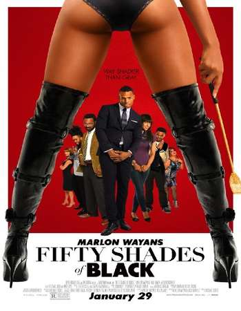 Poster Of Fifty Shades of Black 2016 English 300MB BRRip 480p Free Download Watch Online