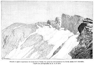 El glaciar del Corral del Veleta en 1892
