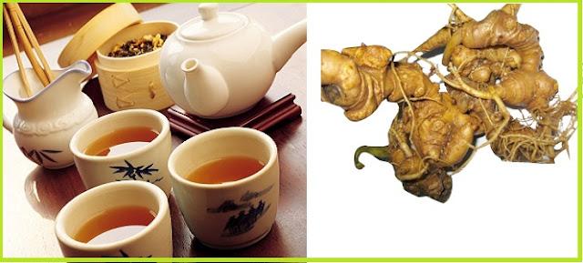 Dùng sâm Ngọc Linh pha trà dùng thường xuyên giúp kéo dài tuổi thanh xuân
