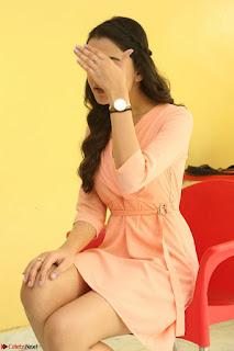 Rukshar Mir in a Peachy Deep Neck Short Dress 028.JPG
