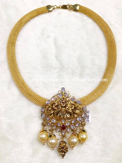 Mesh Necklace Pachi Pendant