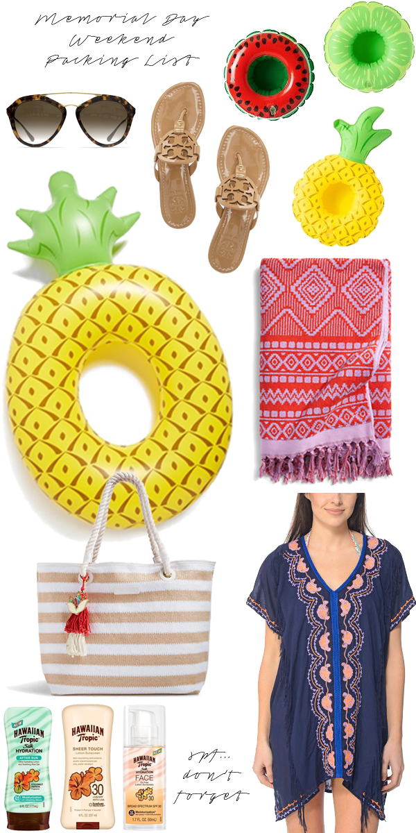 Southern Anchors: {memorial day weekend packing list}