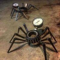 manualidades con chatarra reciclada - arañas