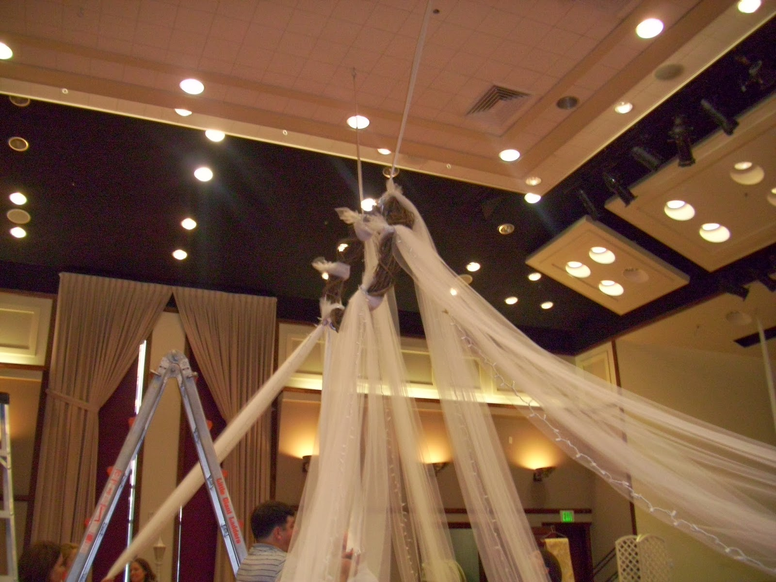 Our Forever Familee Doing A Tulle Draped Ceiling At The