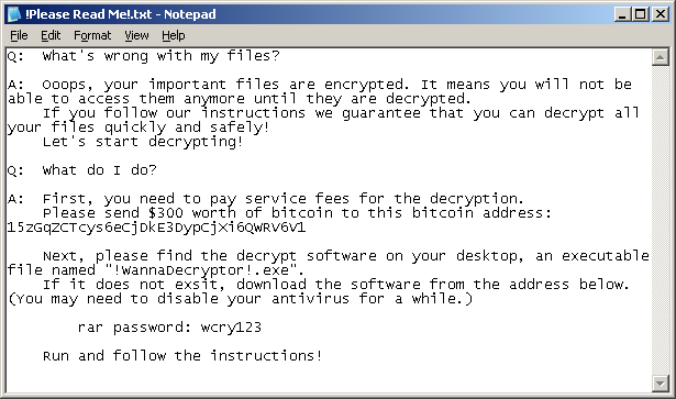 WannaCry Txt File