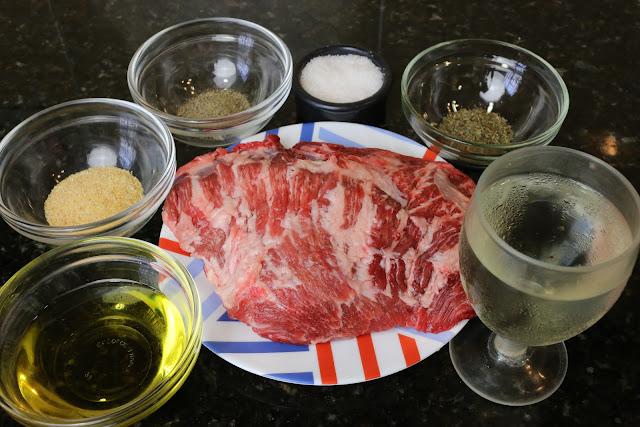 Ingredientes para presa ibérica al horno