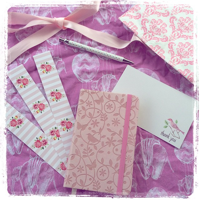 notebook and pen stationery