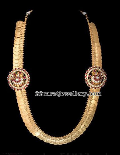 150 Grams Kasu Mala with Side Motif