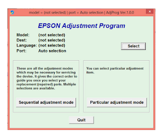 printer epson l110 error service required