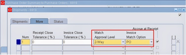 Match Approval Level and Invoice Match OptionSimplifying Oracle E