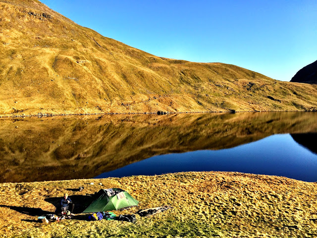Wild Camping at Grisedale Tarn, Lake District - Microadventures