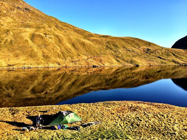 Wild Camping at Grisedale Tarn, Lake District - Microadventures