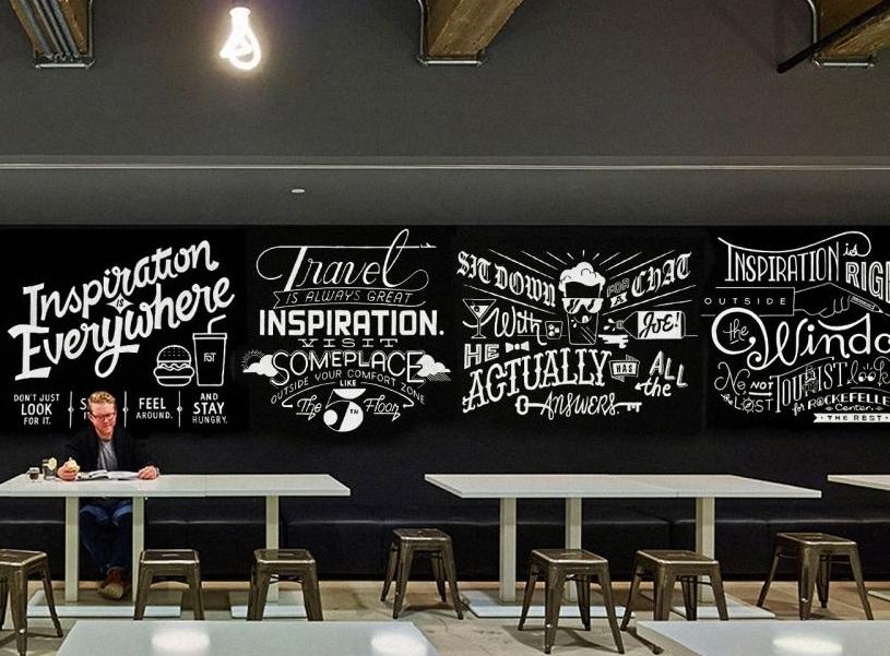 gambar dinding cafe sederhana, interior dinding cafe