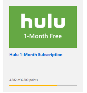 how to get hulu for free by using microsoft rewards